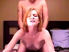redhead MILF shows facial expression of pure lust