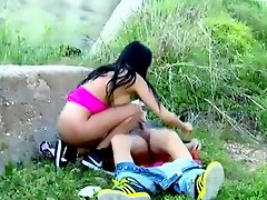 Roadside slut facialized