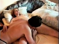 Horny mature slut enjoys a big fat dildo up her slit and then gets banged really hard in this amateur voyeur sex video. She seems very eager to please