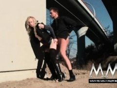 MMV Films Cute German teen blonde fucked outdoor