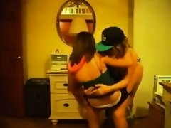 Fabulous twerking web camera dance movie scene