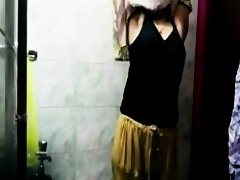 Sexy Indian chick showering