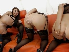3 Awesome Anal Girls